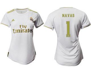 Women's Real Madrid #1 Navas Home Soccer Club Jersey