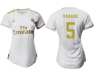 Women's Real Madrid #5 Varane Home Soccer Club Jersey
