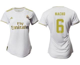 Women's Real Madrid #6 Nacho Home Soccer Club Jersey