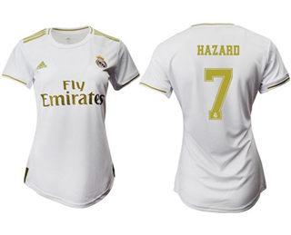 Women's Real Madrid #7 Hazard Home Soccer Club Jersey