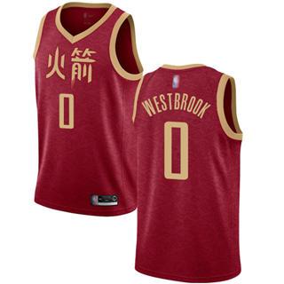 Women's Rockets #0 Russell Westbrook Red Basketball Swingman City Edition 2018-19 Jersey