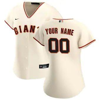 Women's San Francisco Giants 2020 Home Replica Custom Jersey - Cream
