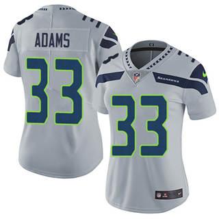 Women's Seahawks #33 Jamal Adams Grey Alternate Stitched Football Vapor Untouchable Limited Jersey