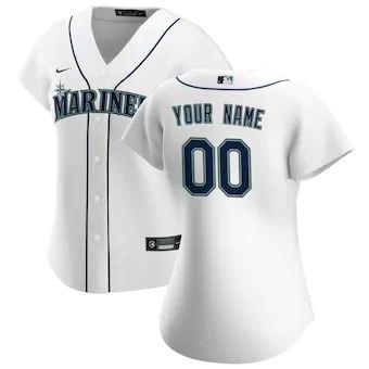 Women's Seattle Mariners 2020 Home Replica Custom Jersey - White