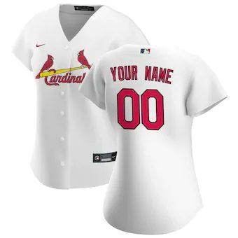 Women's St. Louis Cardinals 2020 Home Replica Custom Jersey - White