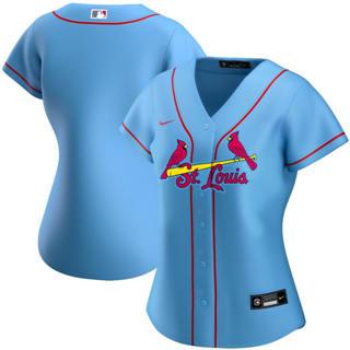 Women's St. Louis Cardinals Alternate 2020 Baseball Team Jersey Light Blue