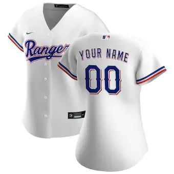 Women's Texas Rangers 2020 Home Replica Custom Jersey - White
