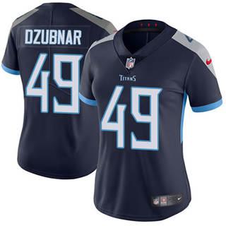Women's Titans #49 Nick Dzubnar Navy Blue Team Color Stitched Football Vapor Untouchable Limited Jersey