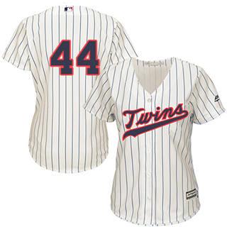 Women's Twins #44 Kyle Gibson Cream Strip Alternate Stitched Baseball Jersey