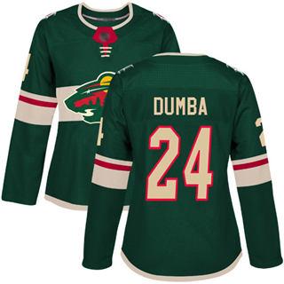 Women's Wild #24 Matt Dumba Green Home Authentic Stitched Hockey Jersey