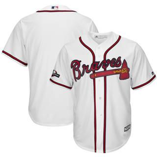 Youth Atlanta Braves 2019 Postseason Official Team Jersey White