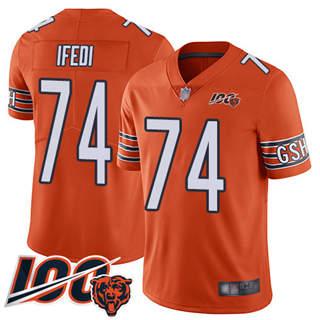 Youth Bears #74 Germain Ifedi Orange Stitched Football Limited Rush 100th Season Jersey