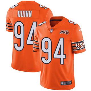 Youth Bears #94 Robert Quinn Orange Stitched Football Limited Rush 100th Season Jersey