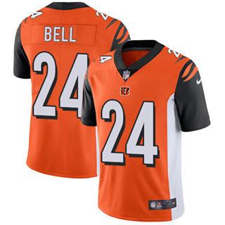 Youth Bengals #24 Vonn Bell Orange Alternate Stitched Football Vapor Untouchable Limited Jersey