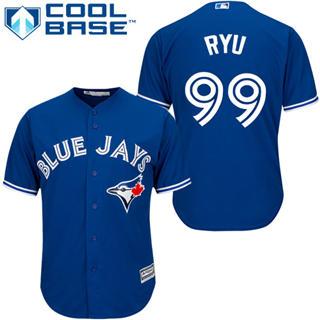 Youth Blue Jays #99 Hyun-Jin Ryu Blue New Stitched Baseball Jersey