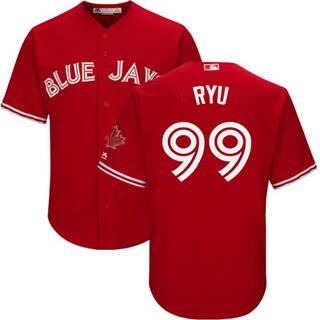 Youth Blue Jays #99 Hyun-Jin Ryu Red New Stitched Baseball Jersey