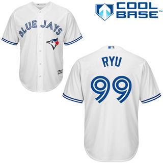 Youth Blue Jays #99 Hyun-Jin Ryu White New Stitched Baseball Jersey
