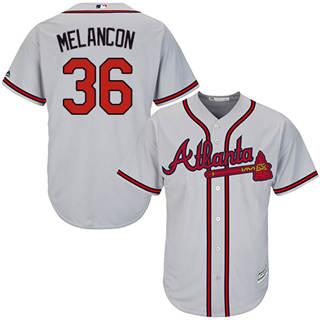 Youth Braves #36 Mark Melancon Grey New Stitched Baseball Jersey