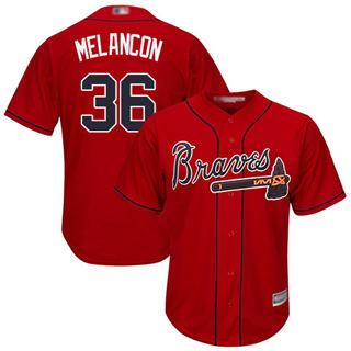 Youth Braves #36 Mark Melancon Red New Stitched Baseball Jersey