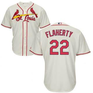 Youth Cardinals #22 Jack Flaherty Cream New Stitched Baseball Jersey