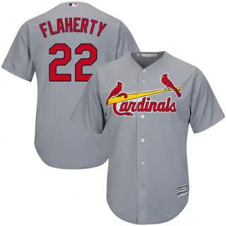 Youth Cardinals #22 Jack Flaherty Grey New Stitched Baseball Jersey