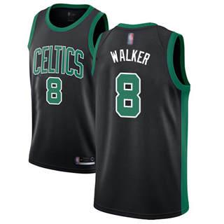 Youth Celtics #8 Kemba Walker Black Basketball Swingman Statement Edition Jersey