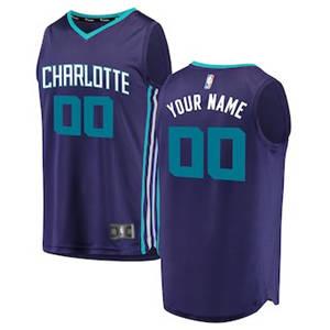 Youth Charlotte Hornets Purple Custom Basketball Jersey - Statement Edition