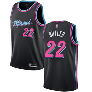 Youth Heat #22 Jimmy Butler Black Basketball Swingman City Edition 2018-19 Jersey