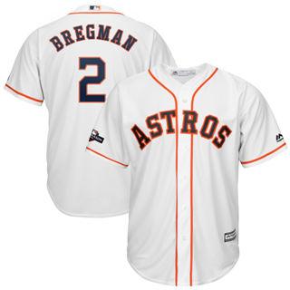 Youth Houston Astros #2 Alex Bregman 2019 Postseason Official Player Jersey White