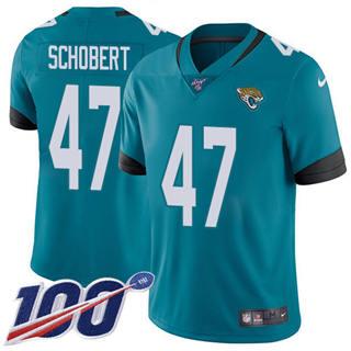 Youth Jaguars #47 Joe Schobert Teal Green Alternate Stitched Football 100th Season Vapor Untouchable Limited Jersey