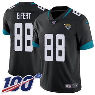 Youth Jaguars #88 Tyler Eifert Black Team Color Stitched Football 100th Season Vapor Untouchable Limited Jersey