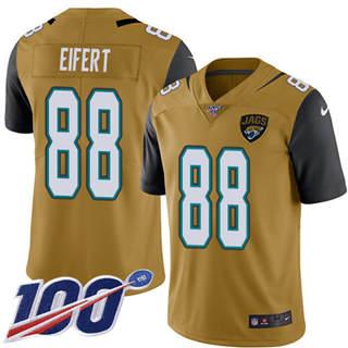 Youth Jaguars #88 Tyler Eifert Gold Stitched Football Limited Rush 100th Season Jersey