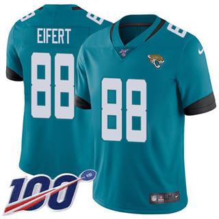 Youth Jaguars #88 Tyler Eifert Teal Green Alternate Stitched Football 100th Season Vapor Untouchable Limited Jersey