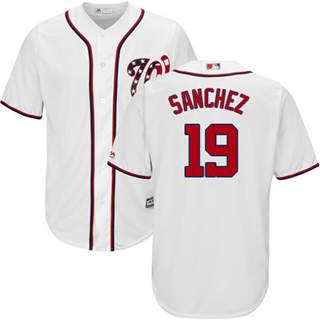 Youth Nationals #19 Anibal Sanchez White New Stitched Baseball Jersey
