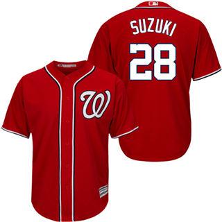 Youth Nationals #28 Kurt Suzuki Red New Stitched Baseball Jersey