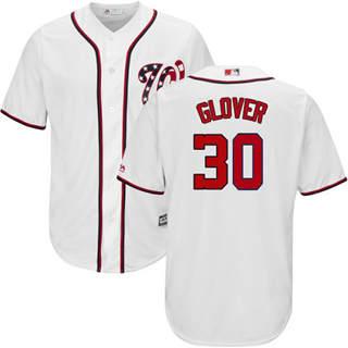 Youth Nationals #30 Koda Glover White New Stitched Baseball Jersey