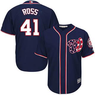 Youth Nationals #41 Joe Ross Navy Blue New Stitched Baseball Jersey