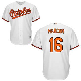 Youth Orioles #16 Trey Mancini White Cool Base Stitched Baseball Jersey