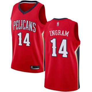 Youth Pelicans #14 Brandon Ingram Red Basketball Swingman Statement Edition Jersey