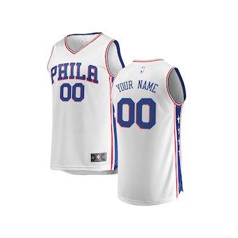 Youth Philadelphia 76ers White Custom Basketball Jersey - Association Edition