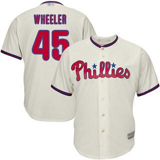 Youth Phillies #45 Zack Wheeler Cream New Stitched Baseball Jersey