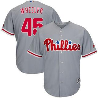 Youth Phillies #45 Zack Wheeler Grey New Stitched Baseball Jersey