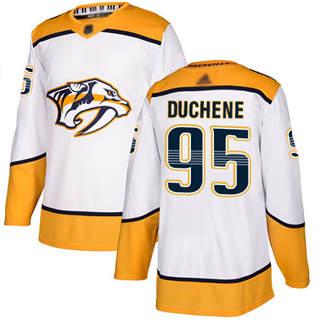 Youth Predators #95 Matt Duchene White Road  Stitched Hockey Jersey