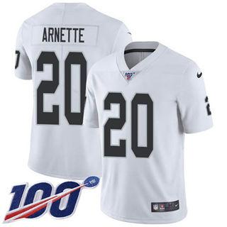 Youth Raiders #20 Damon Arnette White Stitched Football 100th Season Vapor Untouchable Limited Jersey