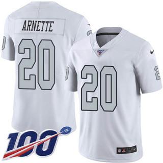 Youth Raiders #20 Damon Arnette White Stitched Football Limited Rush 100th Season Jersey