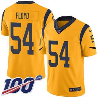 Youth Rams #54 Leonard Floyd Gold Stitched Football Limited Rush 100th Season Jersey