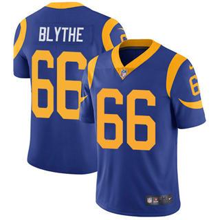 Youth Rams #66 Austin Blythe Royal Blue Alternate Stitched Football Vapor Untouchable Limited Jersey