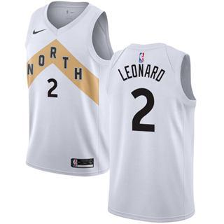 Youth Raptors #2 Kawhi Leonard White Basketball Swingman City Edition 2018-19 Jersey