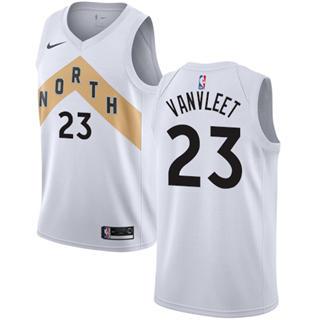 Youth Raptors #23 Fred VanVleet White Basketball Swingman City Edition 2018-19 Jersey