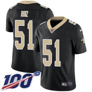 Youth Saints #51 Cesar Ruiz Black Team Color Stitched Football 100th Season Vapor Untouchable Limited Jersey